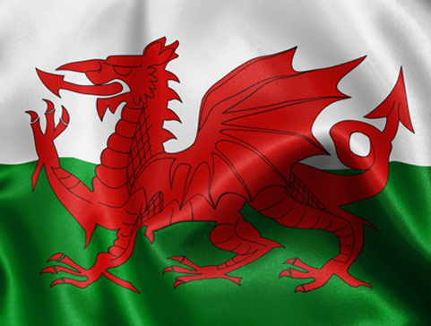 Wales flagg