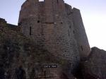 Pembroke Castle's Outer Ward where Henry Tudor was born in 1457