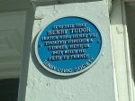 Plaque on the house in Tenby