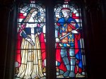 Stained Glass Window's at Cardiff Castle of Jasper and Henry Tudor, once owned by Jasper